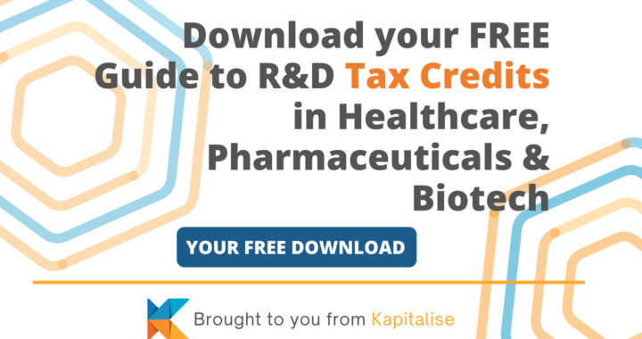 KAPITALISE - Guide to Healthcare Tax Credits web banner